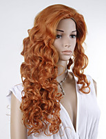 New Arrival 60cm Fashion New Stylish Women Lady Party Sexy Synthetic Hair Long Black Organge kinky Curly Wig