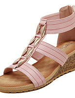 Women's Shoes  Kitten Heel Wedges/Round Toe Sandals Casual Pink/White