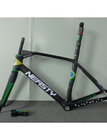 RB-NT213 Neasty 3K Green Yellow Blue Color 700C Full Carbon Fiber Frameset 3K 1-1/8