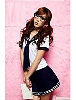 Kayi Women Cotton Blends/Lace/Nylon Uniforms & Cheongsams/Ultra Sexy Nightwear