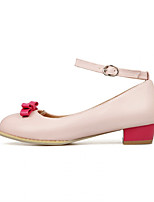 Women's Shoes Faux Leather Chunky Heel Heels Pumps/Heels Office & Career/Casual Pink/Beige