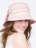 Capacete Chapéus Casual/Ao ar Livre Cestaria Mulheres Casual/Ao ar Livre 1 Peça