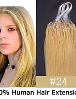 3 Set 24 inch Remy Micro Ring/Loop Hair 0.7g/s Human Hair Extensions 14 Colors for Women Beauty