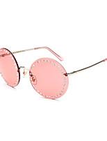 Women's 100% UV400 Round Fashion Diamond Cover Sunglasses
