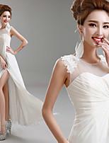 웨딩 드레스 - 아이보리(색상은 모니터에 따라 다를 수 있음) 프린세스 바닥 길이 보석 쉬폰