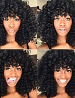 100% Brazilian Human Hair Kinky Curly Natural Color 10-28inch 130% Density Wig Full Lace Wigs For Black Women