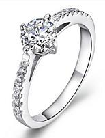 Volcano 925 Silver Plated Platinum Simulation Female Wedding Ring SZR0058W Diamond Ring