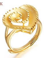 OPK®Ms Luxury 18 K Gold Plating Hollow Heart-shaped Ring