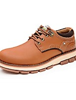 Men's Shoes Casual Leather Oxfords Brown/Orange