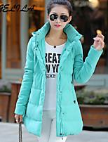 Women's Casual Thick Long Sleeve Long Cotton Coat