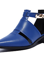 Women's Shoes Leather Chunky Heel Pointed Toe Sandals Casual  More Colors available