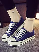 Zapatos de mujer - Tacón Cuña - Comfort / Punta Redonda - Sneakers a la Moda - Exterior / Casual - Tejido - Negro / Azul / Rojo / Blanco