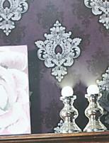 nouvelle rainbow ™ contemporaine papier peint art déco mur violet doux couvrant pvc / mur de vinyle art