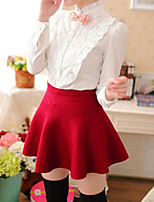 Women's Casual Stretchy Medium Mini Skirts (Cotton)