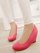 Women's Shoes  Wedge Heel Wedges/Round Toe Pumps/Heels Office & Career/Dress/Casual Black/Pink/Red/White