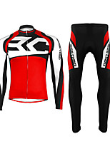BASECAMP Thermal Fleece Windproof cycling Long sleeve shirts+Long Pants BC-531