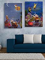 Ritratti / Paesaggio Print Canvas Due pannelli Pronto da appendere , Verticale