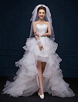 A-line Asymmetrical Wedding Dress - Sweetheart Lace