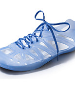 Women's Shoes Synthetic Flat Heel Jelly/Closed Toe Fashion Sneakers Outdoor/Casual Blue/Orange