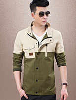 Men's Casual/Work/Sport Long Sleeve Regular Jacket (Cotton) fashion casual cotton washed jackets Sport