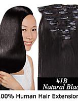 15inch 7pcs / set 120g Clip-in Haar remy Menschenhaarverlängerungen 12 Farben für Frauen Schönheit