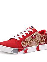 Zapatos de mujer Semicuero Tacón Plano Punta Redonda Sneakers a la Moda Exterior Negro/Azul/Rojo