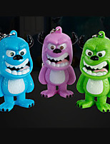 LED Monster Sulley Keychain Flashlight Sound Light Key Ring (Random Color)