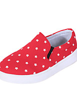 Girls' Shoes Casual Comfort/Closed Toe Canvas Loafers Black/Blue/Red