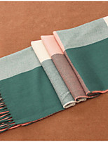 The Pink Green Plaid Imitation Cashmere Scarf