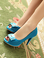 Women's Shoes Stiletto Heel Peep Toe Sandals Office & Career/Dress Black/Blue/Red