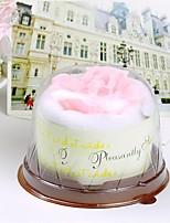 Rose Cake Shaped Hand Towel Wedding Favors Birthday Gift (Random Color)