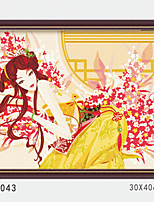 DIY Digital Oil Painting With Solid Wooden Frame Family Fun Painting All By Myself    Charming Womant 4043