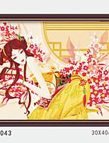 pittura a olio digitale fai da te con una solida cornice di legno famiglia pittura divertimento tutto da solo affascinante womant 4043