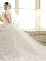 Wedding Veil One-tier Cathedral Veils Lace Applique Edge