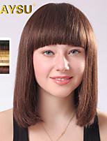 cheveux humains perruques droite vierge remy mono top court nouveaux cheveux d'arrivée