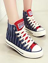 Scarpe Donna - Ballerine / Sneakers alla moda - Tempo libero / Casual - Plateau / Comoda / Punta arrotondata - Piatto - Di corda -Blu /