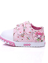 Baby Shoes Outdoor/Dress/Casual Cotton Fashion Sneakers Pink/White