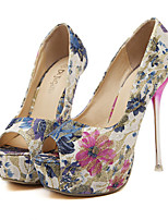 Women's Shoes Fabric Stiletto Heel Peep Toe Pumps Dress More Colors available