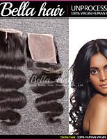 brésilien dentelle fermeture de cheveux vaga de cuerpo partie médiane cierre de cordones (4x4