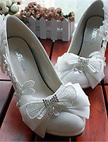 Women's Shoes Leather Stiletto Heel Heels Pumps/Heels Wedding/Party & Evening White