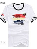 Camiseta De los hombres Casual Algodón - Manga Corta