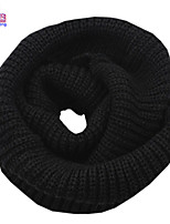 Waboats Winter Women Thick Knitted Solid Infinity Loop Scarf