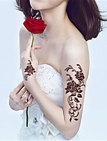 5Pcs Waterproof Brown Rose Pattern Temporary Body Art Tattoo Sticker