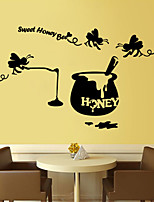 Wall Stickers Wall Decals Style Sweet Honey Bee English Words & Quotes PVC Wall Stickers