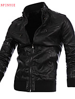 2015 men's Fashion leisure leather jacket