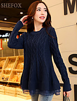 Women's Casual/Cute Inelastic Medium Long Sleeve Pullover (Knitwear)SF7E14
