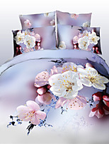 White Polyester King Duvet Cover Sets