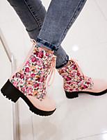 Zapatos de mujer - Tacón Stiletto - Botas Anfibias / Punta Redonda - Botas - Oficina y Trabajo / Casual - Semicuero - Negro / Azul / Rosa