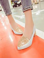 Women's Shoes Kitten Heel Heels/Pointed Toe Pumps/Heels Office & Career/Dress Silver/Gold