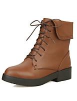 Scarpe Donna - Stivali - Formale / Casual - Punta arrotondata / Stivali - Quadrato - Finta pelle - Nero / Giallo / Beige
